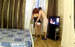 Member of the son in the mother ass. Mom and son anal sex real