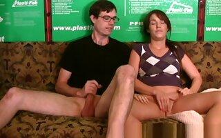 Hottest Amateur clip with Handjob, Masturbation scenes
