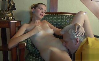 Ferro Network - Horny Old Gents - Cecilia and Caspar - Пensioner i vnuchka
