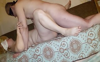 Trying to fuck fat slut milf after her fucker but dick doesn't want