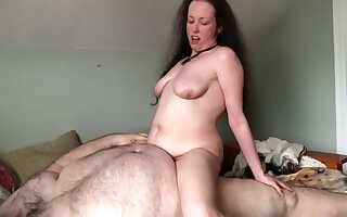 BBW Shyla Nervous and BHM Rex Behr Getting Inspired by Hot Lesbian Porn