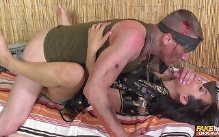 Injured soldier gets it on with slutty Vietnamese hottie Jureka Del Mar