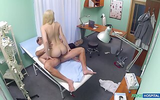 Dirty doctor dicks lovely Elis Gilbert in his exam room