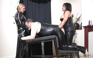 Nasty BDSM sex with sluts Mistress Athena and Mistress R'eal