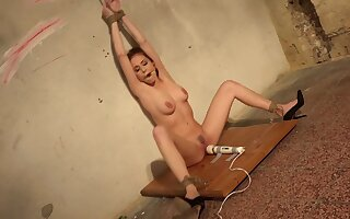 Naked teen obeys master's dirty desires for BDSM porn
