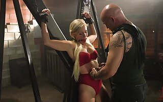 Innocent looking blonde Gabi Gold loves handcuffs and bondage