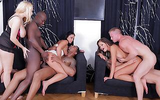 Angel Wicky Enjoys Wild Interracial Orgy with Gabriella Daniels and Tiffany