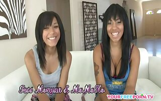 Cute Lesbian College Couple Toying Each Other