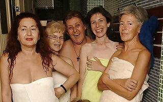 Ever take a peek in an all female mature sauna