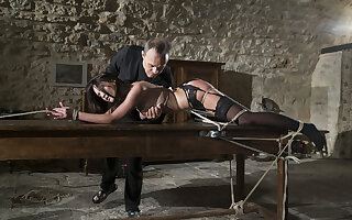 Pain slut getting tortured by master