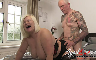 AgedLovE British Matured Lacy Starr Rough Fuck