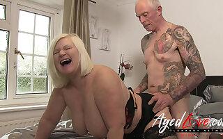 AgedLovE British Matured Lacy Starr Rough Fuck