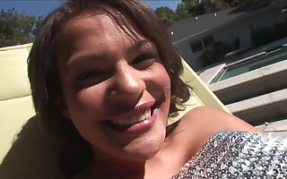 Raunchy whore frightening interracial video