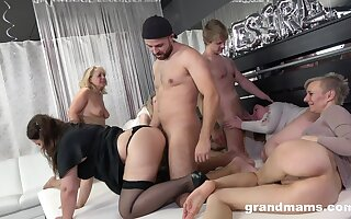 A group of horny grown up battalion hire yoke young bobtail to fuck them
