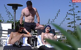 Sex by the lake all over wonderful amateur threesome