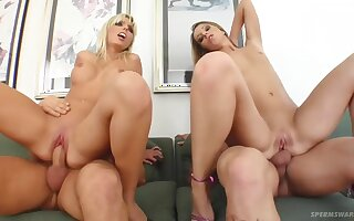 Debbie and Stella crazy group sex video