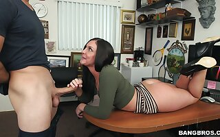 Hardcore fucking unaffected by the place game table with desirable Brittany Shae