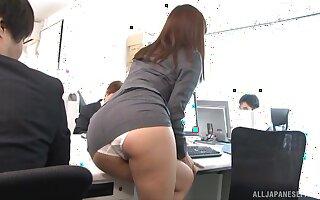 Hardcore fucking in put emphasize office with adorable secretary Aya Kisaki