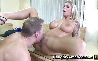 Amateur Neighbor Affair - Fat fake tits atop blonde MILF