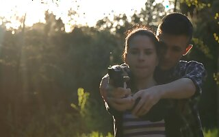 Wild outdoors bonking with naughty EX girlfriend Amber Nevada