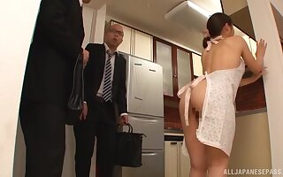 Addictive home anal with get under one's Japanese wife