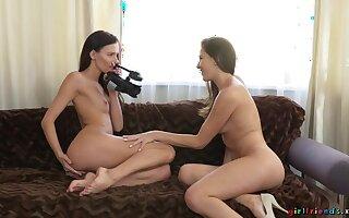 Brunette besties erotic audition